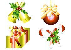 Free Christmas Decoration Set Royalty Free Stock Image - 25208126