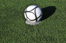 Free Football Ball On Apenalti Point On A  Grass Stock Photo - 25208810