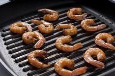 Free Roasted Shrimps Stock Image - 25209521