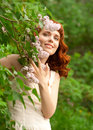 Free Woman In Summer Garden Royalty Free Stock Photography - 25215017