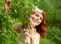 Free Woman In Summer Garden Royalty Free Stock Photos - 25215018