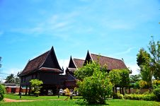 The Old Style Thai House. Royalty Free Stock Image