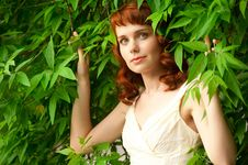 Free Beautiful Woman In Summer Park Royalty Free Stock Photography - 25215007