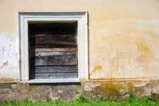 Boarded Up Window Royalty Free Stock Image