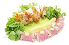 Free Shrimp And Tuna Royalty Free Stock Photo - 25224235