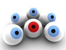 Free Red Eyeball Royalty Free Stock Photo - 25225115