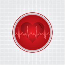 Free Heart Whit Ekg Stock Images - 25226254