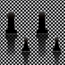 Free Chess Pieces On Texture Royalty Free Stock Photography - 25226637
