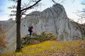 Free Beautiful Limestone Gorge And A Woman Admiring It Stock Photos - 25238793
