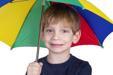 Free Kid With An Umbrella Royalty Free Stock Photos - 25230108