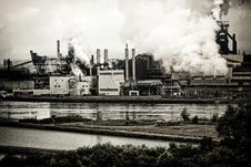 Steel Plant Pollution Royalty Free Stock Images