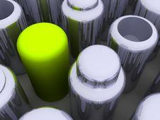 Cylinder Array Stock Image