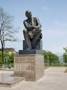 Free Monument To Lenin In Town Nakhodka Royalty Free Stock Photo - 25235175