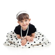 Free Pretty Little Girl Isolated On White Royalty Free Stock Images - 25238499