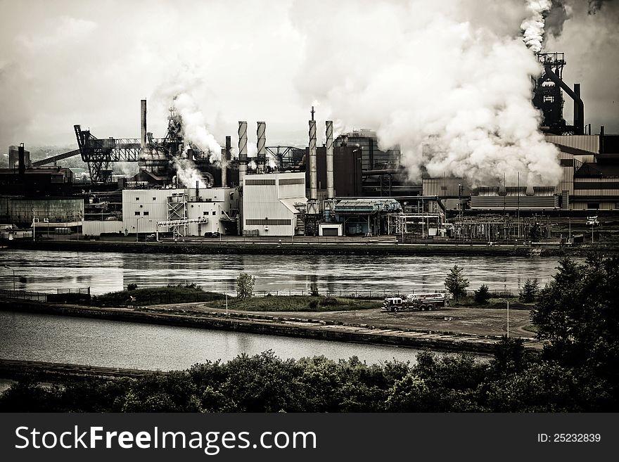 Steel Plant Pollution
