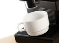 Free Coffee Maker Machine With White Coffee Cup Royalty Free Stock Photos - 25242008