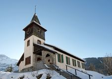 Free Church In The Alps Stock Photos - 25242923