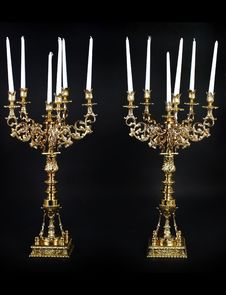 Free Brass Candleholder Royalty Free Stock Photos - 25244478