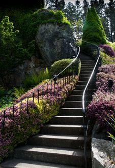 Free Garden Staircase Stock Photography - 25247782