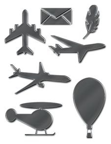 Free Metallic Flight Symbols Stock Photography - 25248492