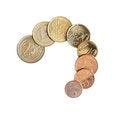 Free European Coins On White Stock Photography - 25251902