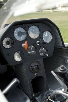Free Glider Cockpit Stock Photography - 25252372