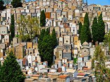 Graveyard On Sicily Stock Photos