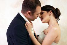 Free Groom Kisses Bride In Empty Room Stock Photos - 25253813