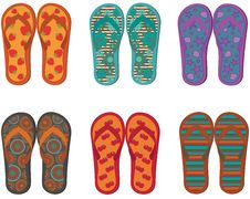 Free Flip Flops Collection. Stock Image - 25256801