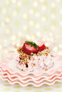 Free Frozen Strawberry Pie Royalty Free Stock Photo - 25263315