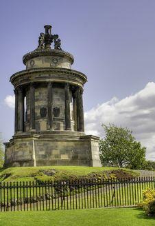 Robert Burns Monument Edinburgh Stock Image