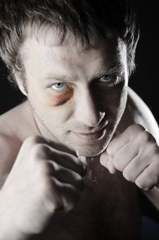 Free Fighter Portrait. Royalty Free Stock Photos - 25262058