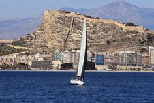 Free Sloop Sailing Stock Images - 25264714