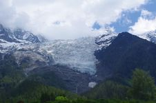 Alpine Glacier Royalty Free Stock Photography