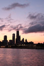 Free Partial View Of Chicago Skyline At Dusk Stock Images - 25279504