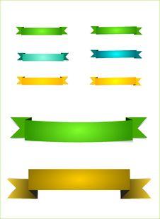 Free Colorful Ribbons Royalty Free Stock Images - 25271369