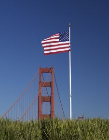 Free Bridge Flag Royalty Free Stock Photography - 25276577