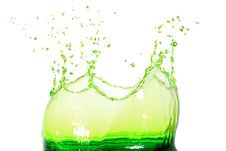 Free Green Water Splash Stock Image - 25279071