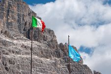 Free Italian And Unesco Flags Stock Photos - 25279803