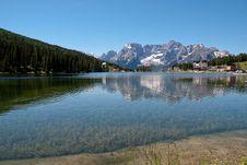 Free Misurina Lake In The Alps Mountains Stock Photography - 25280092