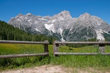 Free Fence With Glacier Stock Images - 25280204