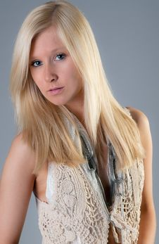 Free Pretty Teen In Vest Stock Photos - 25280443