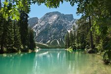 Free Lake In The Alps Mountains Royalty Free Stock Photos - 25280658
