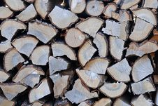Stack Of Chopped Wood Stock Photography