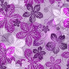 Free Seamless Floral Gray Pattern Royalty Free Stock Image - 25282886