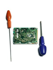 Free Computer Hardware With Screw Drivers Stock Image - 25288141