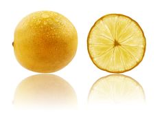 Free Fresh Fully Ripe Lime In Vibrant Yellow Color Royalty Free Stock Photography - 25288567