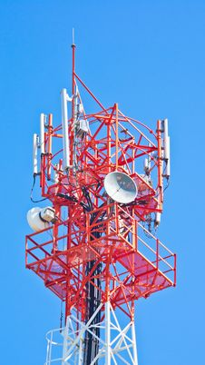 Free Antenna Of Communication Building. Stock Image - 25289911