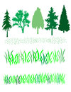 Free Trees And Grass Royalty Free Stock Photos - 25291868
