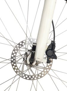 Front Brake Of Mountain Bike Royalty Free Stock Images
